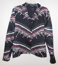 West End Sz L REVERSIBLE Lightweight Jacket Coat Cover Up Top CRINKLE TEXTURE M