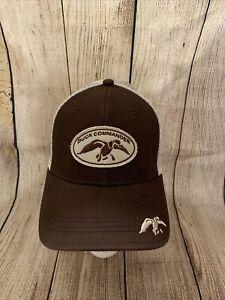 Duck Commander Logo Brown mesh A-flex Cap Hat