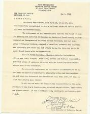 1942 Selective Service Columbus Tiffin OH Gov John Bricker 4th Registration Ltr