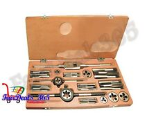 HEAVY DUTY TAP & DIE SET 1/16 TO 1/4 BRITISH STANDARD WHITWORTH- BOXED COMPLETE