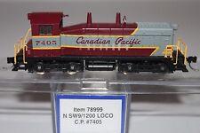 N Scale Life-Like 78999 Canadian Pacific SW9/1200 Diesel Powered Locomotive 7405