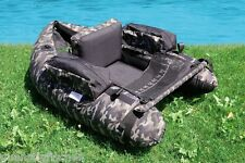 Lineaeffe Belly Boat Camouflage V-form mit pumpe und Tasche Angelboot