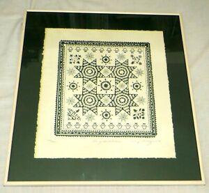 Star of Bethlehem - Ltd Edition Framed Embossed Paper Print - Mary Rutherford