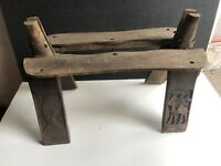 Vintage Antique Egyptian Camel Wooden Carved Wood Foot Stool Ottoman