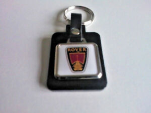 Rover Leather/Metal Keyring