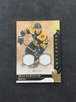 2019-20 UPPER DECK ARTIFACTS BRAD MARCHAND MATERIALS DUAL JERSEY GOLD #ed 61/125