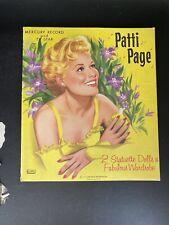 VINTAGE 1958 PATTI PAGE PAPER DOLLS Original Cut Out Dolls Lear Music Lowe