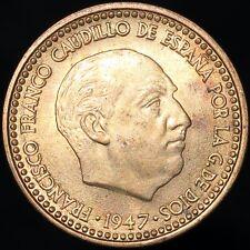 More details for 1947 (54) spain francisco franco 1 peseta | aluminium-bronze | coins | km coins