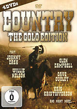 DVD Country the Gold Edition by Various Artists 4DVD Box with Johnny Cash, Willi