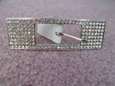 "LARGE RECTANGULAR FASHION RHINESTONE BELT BUCKLE FOR 1"" WIDE BELT"