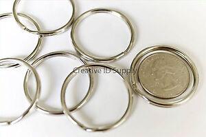 "WHOLESALE LOT 100 250 500 1000 KEY RINGS 32mm 1-1/4"" D. Split Ring Silver"