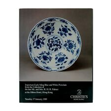Christies Hong Kong 1989 Ming Blue and White Porcelain Hardcover