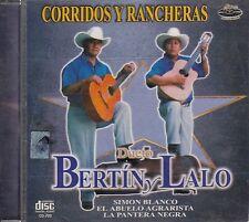 Dueto Bertin y Lalo Corridos y Rancheras CD New Sealed