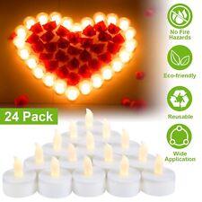24pcs Flameless LED Tealight Candles Tea Light Battery Decoration Wedding Party
