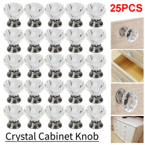 Acrylic Diamond Clear Crystal Dresser Knobs Drawer Pull Handle Cabinet Door Lots