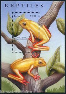 Liberia 2002 MNH MS, Amphibians, Frogs, Arum Lily Frog