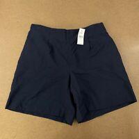 "LOFT Women's Size Small 7.5"" Inseam Forever Navy Blue Fluid Bermuda Shorts NWT"