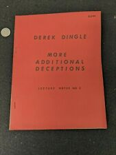 Derek Dingle - More Additional Deceptions - Lecture Notes #3 Magic Book