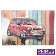 Primus Retro Red Classic Mini 3D Hand Crafted Metal Wall Art / Sculpture