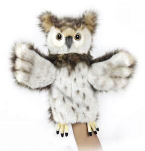 Hansa Owl Bird Hand Body Puppet [30cm] Soft Plush Stuffed Animal Toy NEW