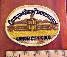 VINTAGE COLORADO STATE PENITENTIARY CANON CITY EMBROIDERED PRISON PATCH NOS