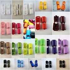 SET OF 10 ITALIAN VARATION OF COLOURS TOGGLES END CORD LOCK STOP CLIPS - B454