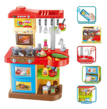 Childrens Kitchen Role Play Toy Set Water Lights Music & Remote Control 4690