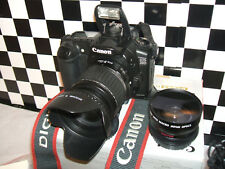 Canon EOS 20D 8.2MP Digital SLR Camera - Blackwith THREE LENSES