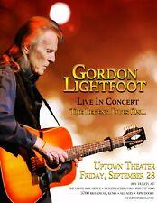 GORDON LIGHTFOOT 2018 KANSAS CITY CONCERT TOUR POSTER - Folk Rock, Country Music