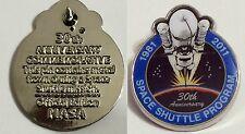Space Shutte Raumfahrt Pin! Das Material ist ins Weltall geflogen!