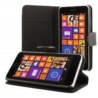 Nokia Lumia 630 635 portafoglio custodia nero wallet case cover
