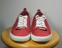 Brooks Brothers Men's Red Canvas Flat Athletic Shoes Size 10 M