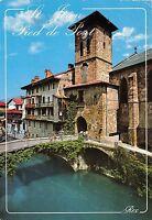 BR8735 St Jean Pied de Port Le clocher de l eglise et la porte   France