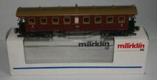Vagones de pasajeros de escala H0 de plástico de color principal marrón para modelismo ferroviario