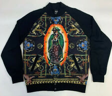 Crooks And Castles Jacket Sweatshirt Medium Mens Black Letterman Style