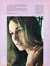 Publicité Advertising 047  1968  Bijoux diamant De Beers par Leslie Turtle