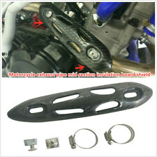 Universal Motorcycle Exhaust Muffler Pipe Leg Protector Heat Shield Cover Guard