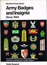 LIVRE Blandford Colour Series-ARMY BADGES AND INSIGNIA Since 1945 de ROSIGNOLI