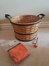 Longaberger Medium Bushel Basket Combo Halloween Ghost Pumpkin Tie-on RETIRED