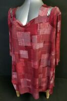WOMAN WITHIN Womens Tunic Length Blouse Top Size 26/28 2X Plus