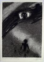 DDR-Kunst, 1978. Grosse Zinkographie Gregor-Torsten KOZIK (*1948 D) handsigniert