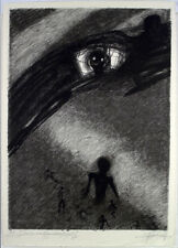 DDR-arte, 1978. grande zinkographie Gregor-Torsten Kozik (* 1948 D) firmato a mano