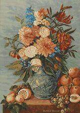 WALL JACQUARD WOVEN TAPESTRY Victorian Bouquet EUROPEAN FLOWER ART DECOR