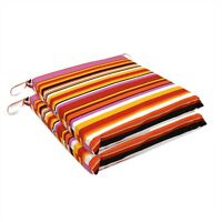 """Pink Stripes(2Pc) Office Dining Room Garden Chair Seat Cushion Pad Outdoor 3""""H"""