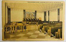 Baton Rouge Louisiana State Supreme Court Linen Postcard LA CT & Co Card