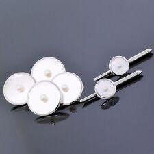 Vintage Antique Mikimoto 18K White Gold Cultured Pearl Cufflink/Shirt Stud Set