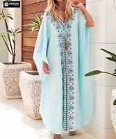 Copricostume Vestito Lungo Donna Mare Caftano Woman Boho Chic Maxi Dress COV0165