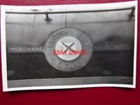 PHOTO  SR  MERCHANT NAVY LOCO NAMEPLATE  35018 BRITISH INDIA LINE