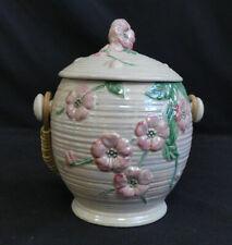 More details for vintage maling biscuit barrel  apple blossom time   sh42