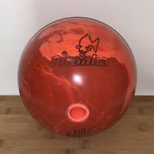 Vintage Columbia 300 Piranha Bowling Ball, 15 LBS (Red/Orange Swirl)